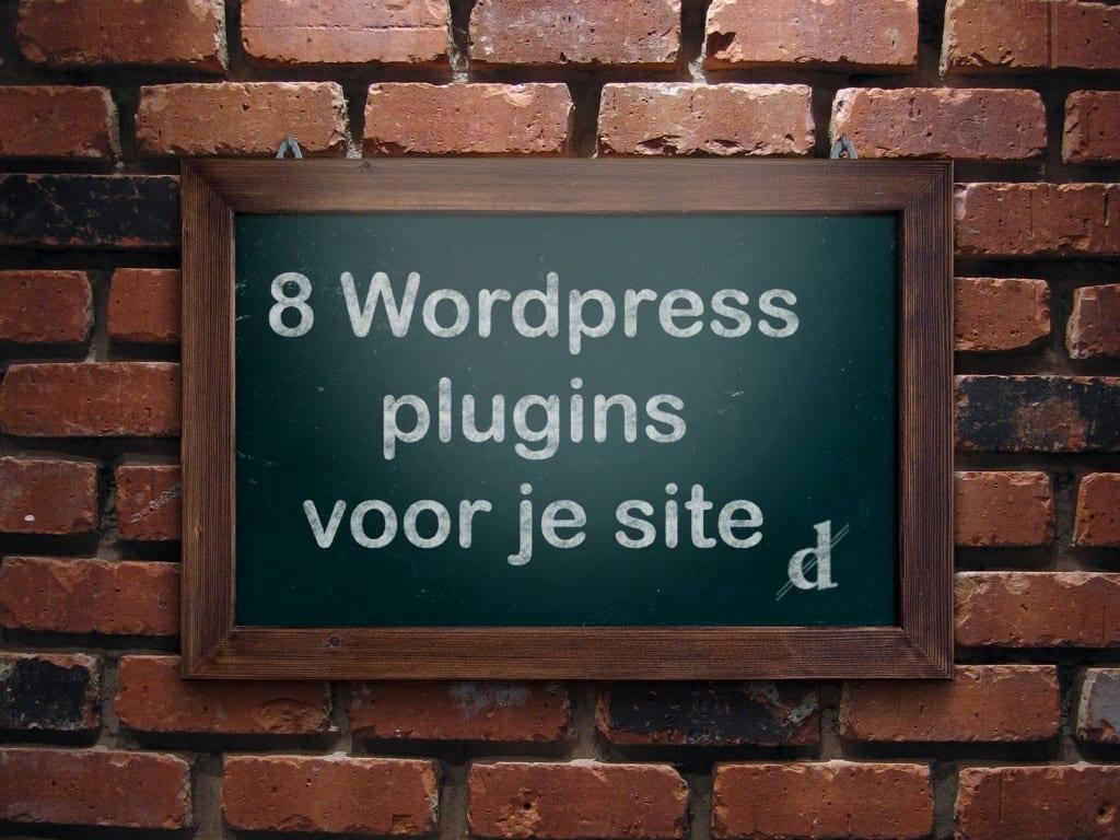 8 wordpress plugins site