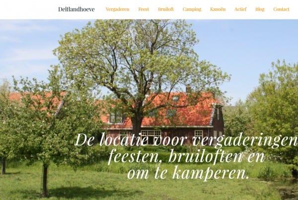 nieuwe website delflandhoeve