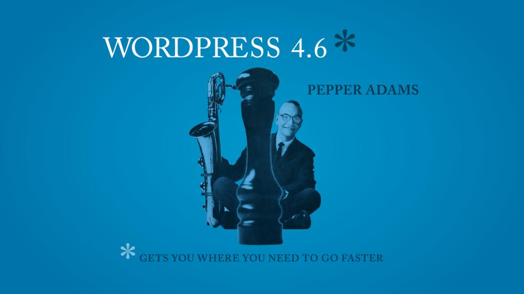 wordpress update 4.6 pepper