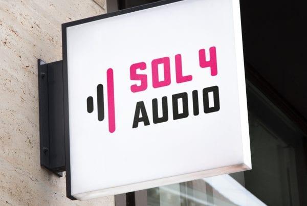 Logo audio bedrijf