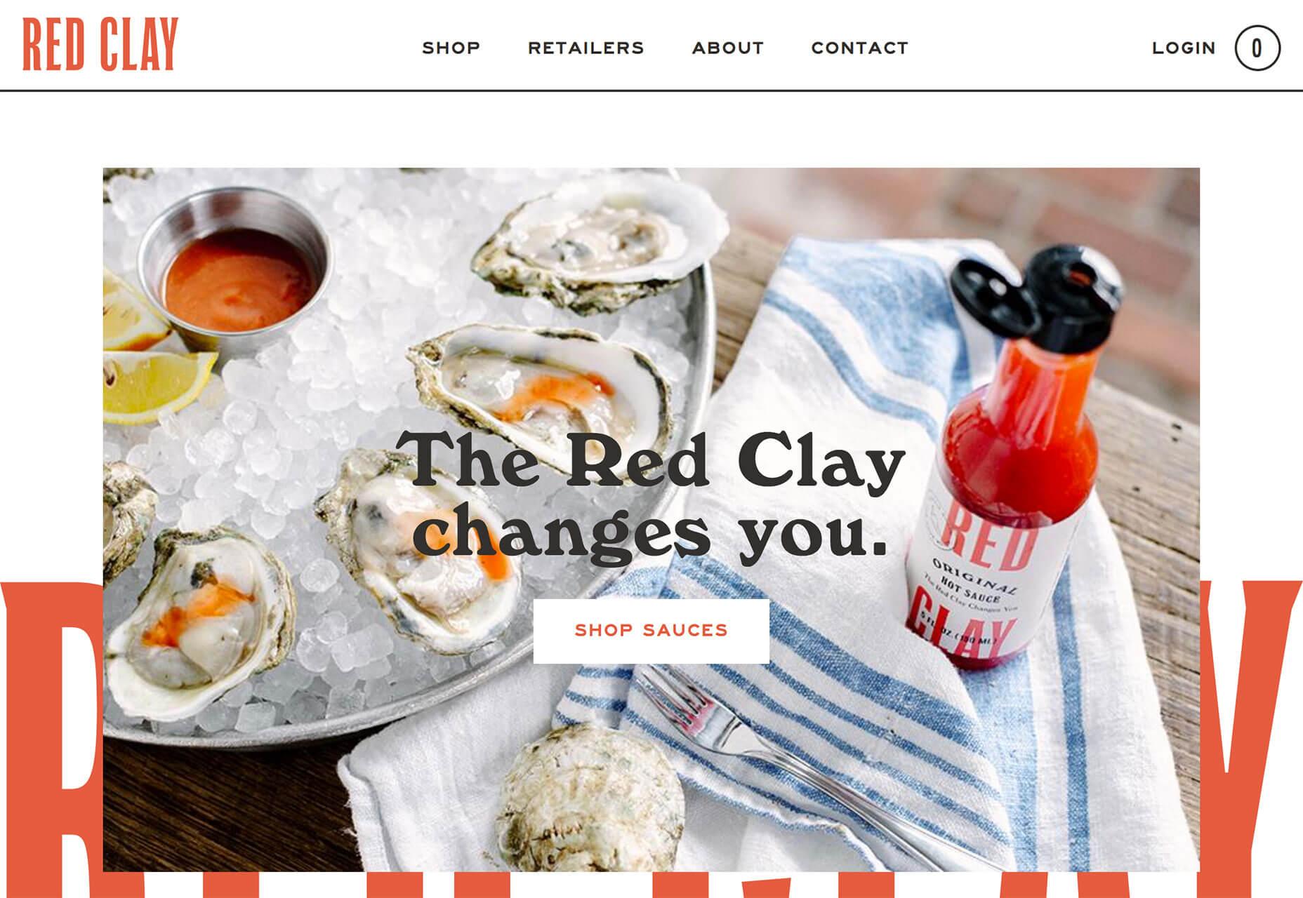 Website design Red Clay sauzen