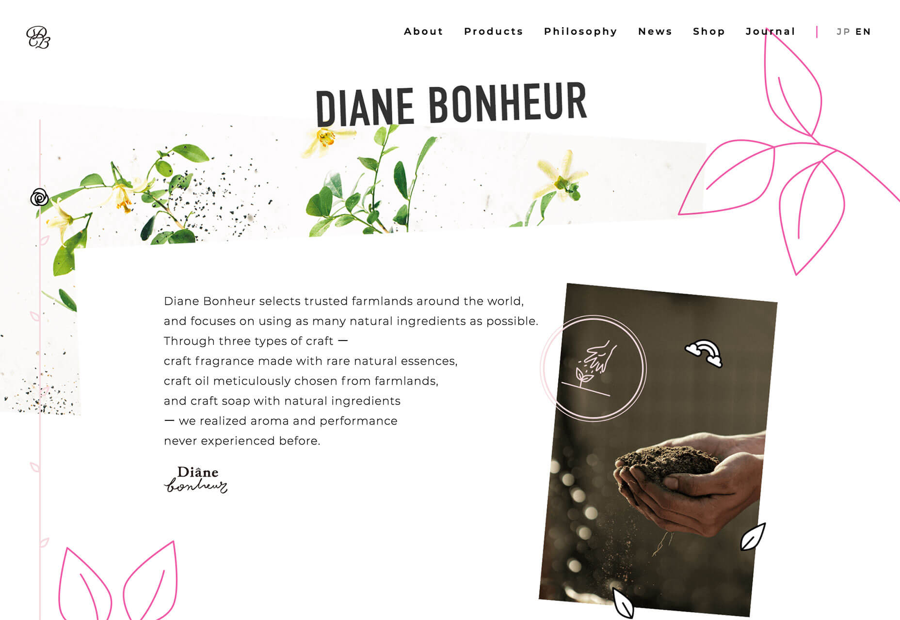 diane bonheur website