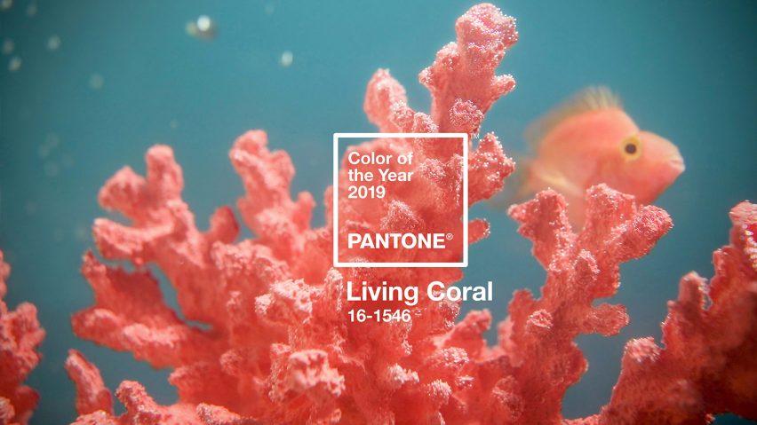 pantone kleur van het jaar 2019 - levend koraal