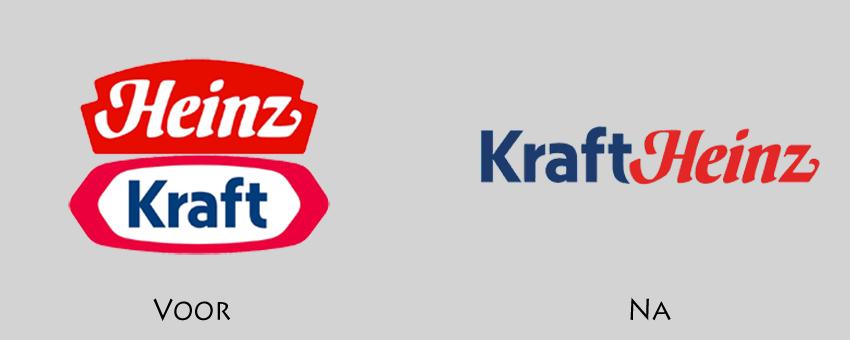 Kraft en Heinz combineren logo na fusie
