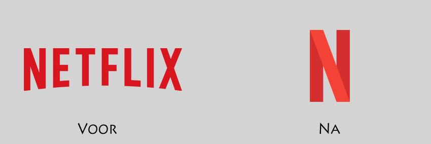 Het nieuwe logo van Netflix