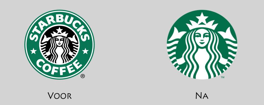 Starbucks logo haalt merknaam weg