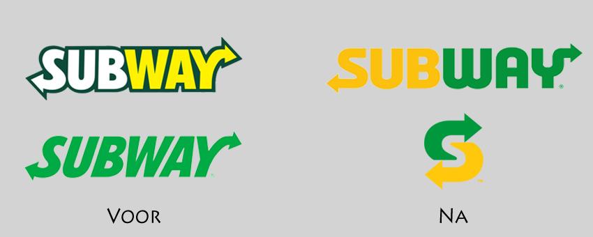 Subway heeft na kritiek weer een nieuw logo
