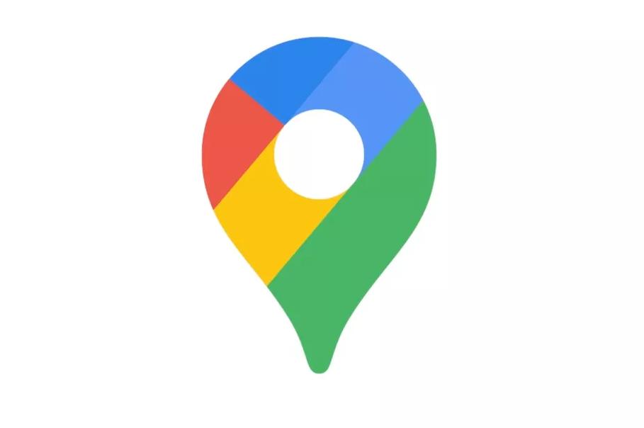 Het nieuwe logo (icoon) van Google Maps