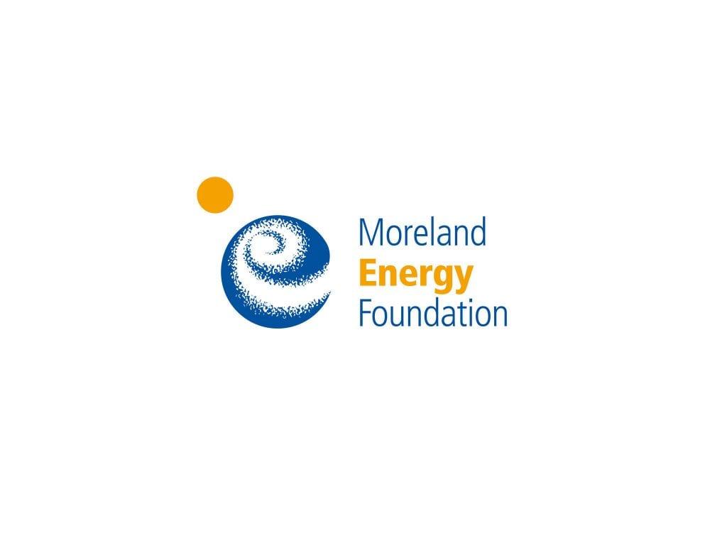 Het oude logo van de Moreland Energy Foundation